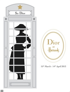 Dior store takeover at Harrods