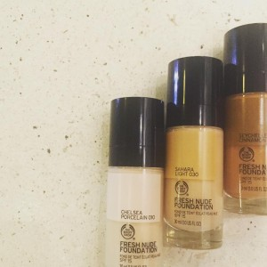 The Body Shop Fresh Nude Foundation and Shade Adjusting Drops