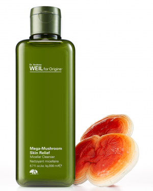 Origins introduces Mega-Mushroom Skin Relief Micellar Cleanser