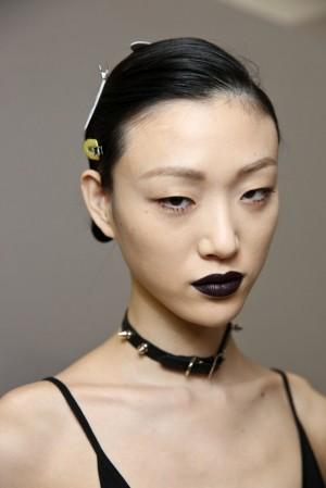 Dior Dark Lips Look from the PFW Runway