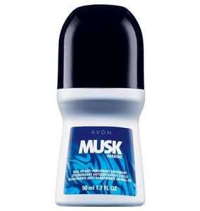 Musk marine for men roll-on anti-perspirant deodorant