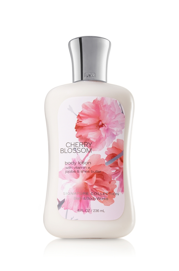 Bath body works cherry blossom signature collection body for Where are bath and body works products made