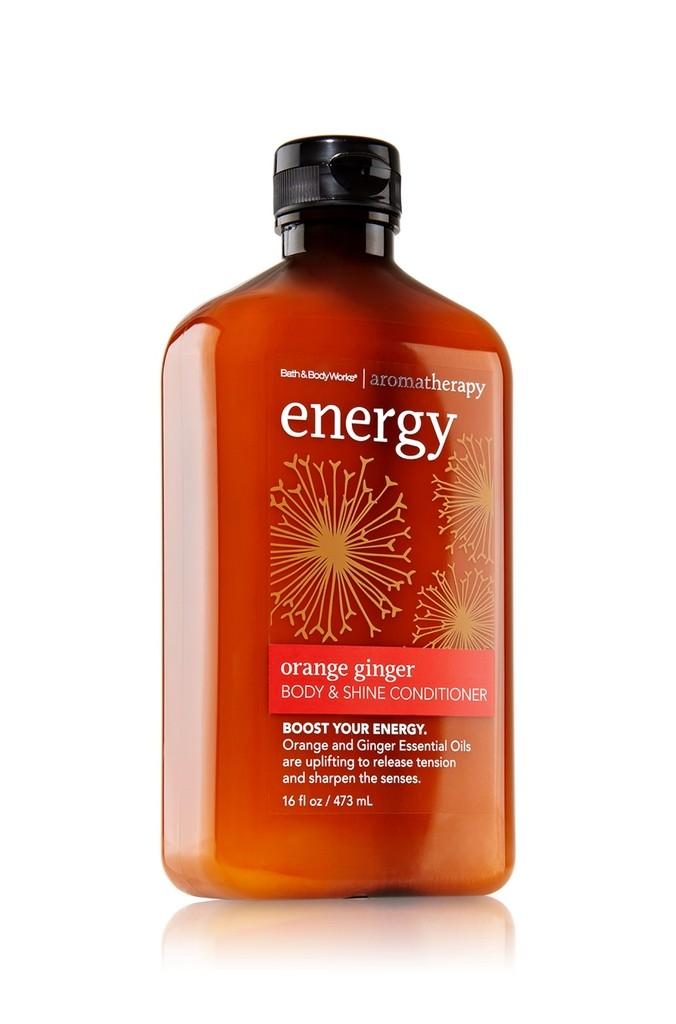 Bath Body Works Energy Orange Ginger Aromatherapy Body Shine Shampoo Hair Care Beautyalmanac