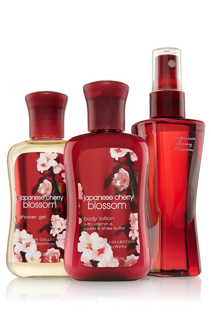 Bath Amp Body Works Japanese Cherry Blossom Signature Collection Travel Size Bundle