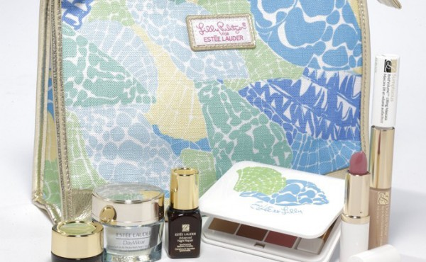 Estee Lauder and Lilly Pulitzer makeup bags