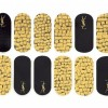 Yves Saint Laurent Metallic Nail Foils fall 2015