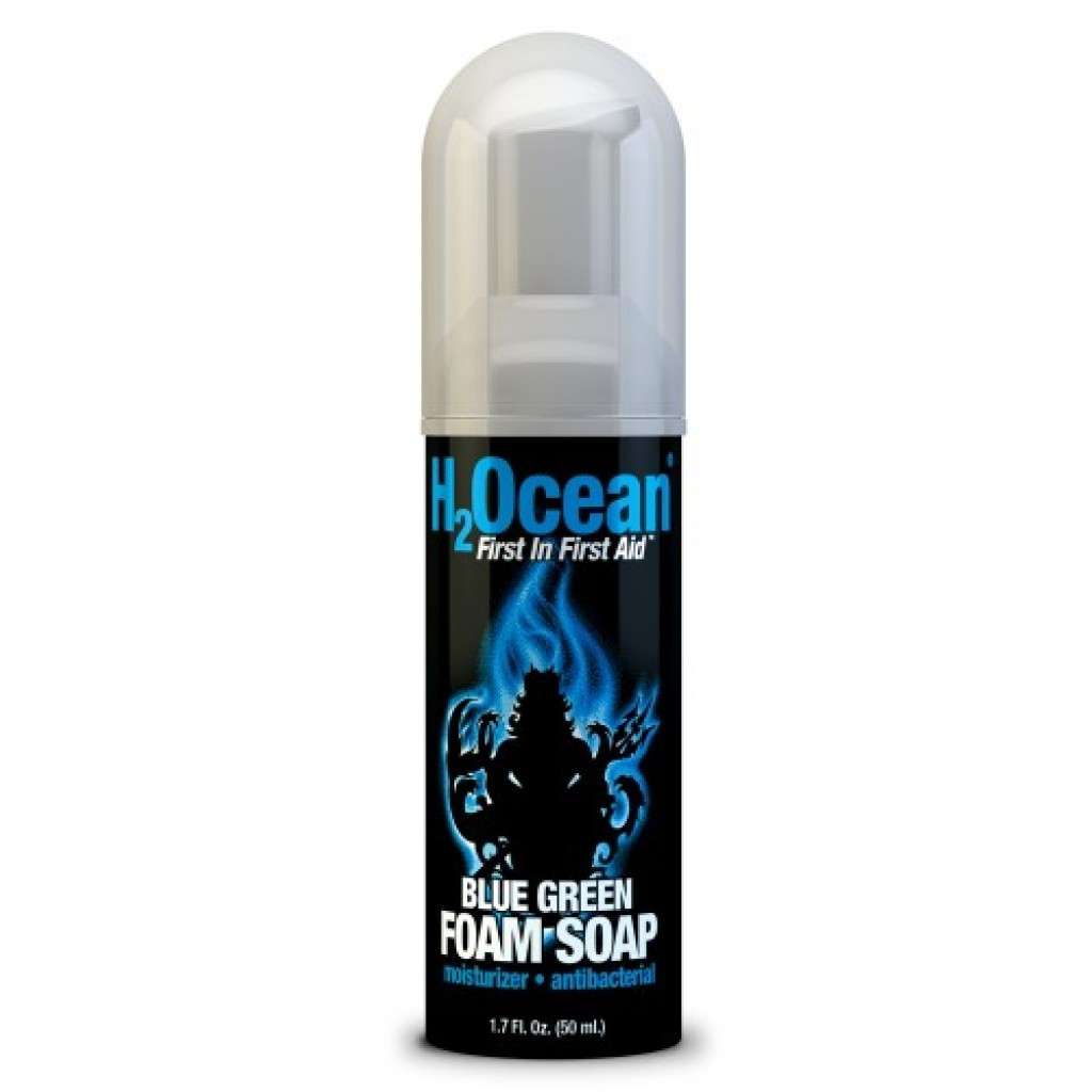 H2ocean blue green foam soap tattoo wash makeup for Best soap to wash tattoo