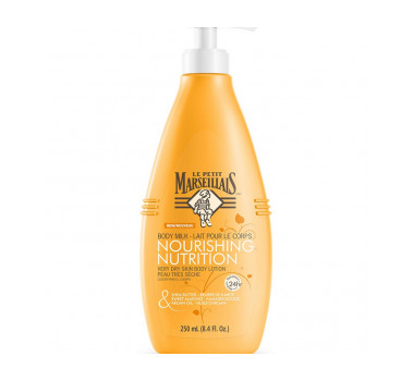 Le Petit Marseillais Shea Butter, Sweet Almond & Argan Oil Nourishing Body Milk Lotion for Dry Skin