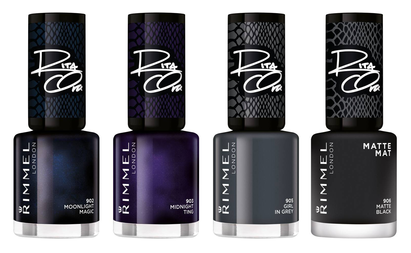 Rimmel 60 Seconds Nail Polish By Rita Ora Shades Of Black