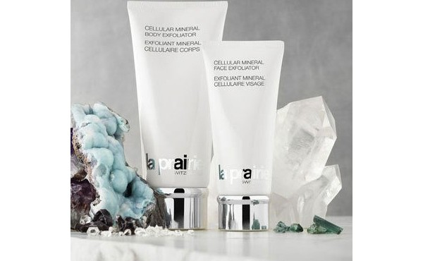 La Prairie Cellular Mineral Face Exfoliator and Cellular Mineral Body Exfoliator