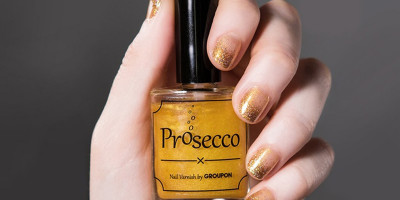 Groupon launches lickable Prosecco flavored nail polish