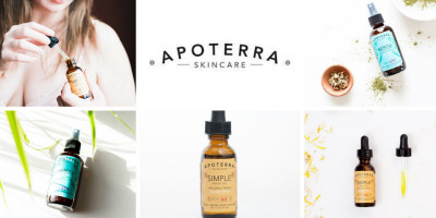 Apoterra Plant and Mineral Based Skincare: Neroli Toner & Jojoba Facial Oil