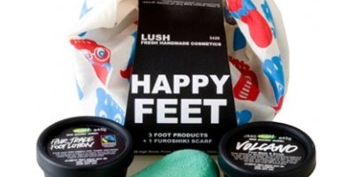 Lush's limited edition Knot Wrap gift set - Happy Feet