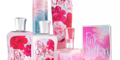 Bath & Body Works Pink Chiffon Collection