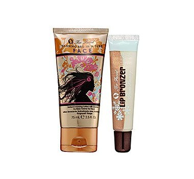 Too Faced Tanning Bed In A Tube & Snow Bunny Lip Bronzer ($40 Value)